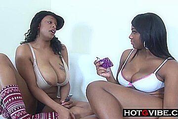 Black ebony lesbians anal dp...