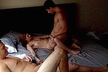 Milf has first threesome...