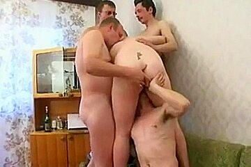 Drunken russian gangbang...