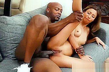 Tiny jantzen fucks a black dudes cock...