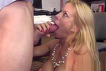 Sexy big tits boss wife alexis fawx cheats...