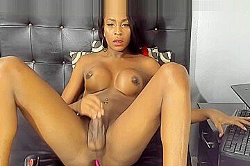 Silky smooth cums twice...