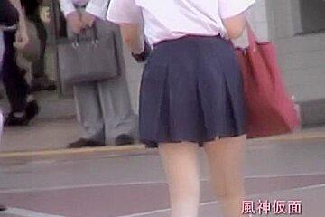 Wonderful windblown cute japanese schoogirls fjkdv001 sd...