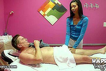 Happy tugs muscle massage...