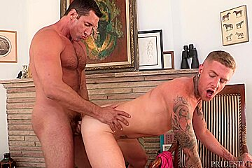 Dylan lucas muscled danny gunn jerking...