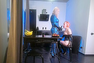 And facefuck video in latex rubber free...