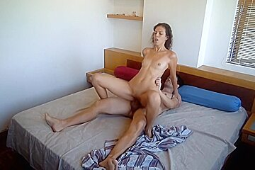 Wakes up hubby for sex part1...