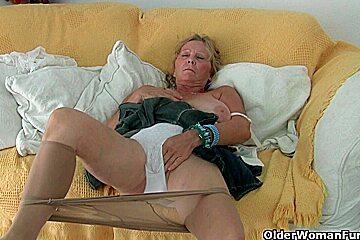 Big boobed granny...