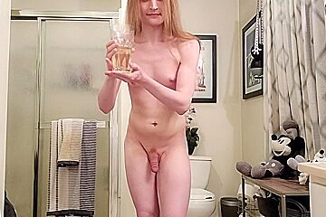 Drinking my own fingering my ass...