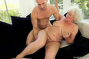 Blonde granny named norma her neighbour at the...