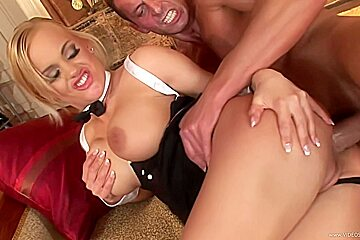 Blonde gets ass fucked deep and hard for...