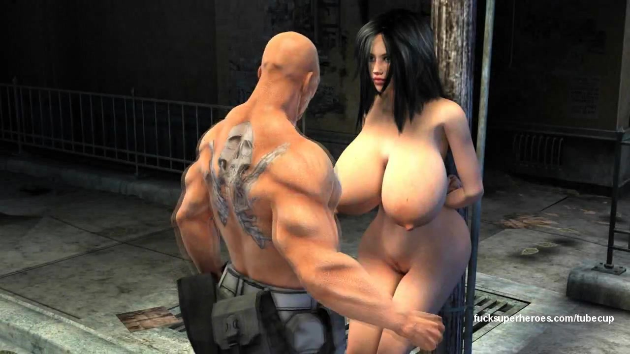 Big titties, tight pussy, bad guys, batman, creampie