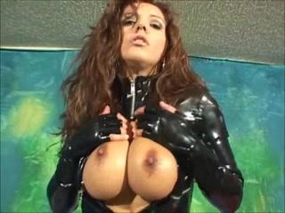 Francesca Lee in PVC