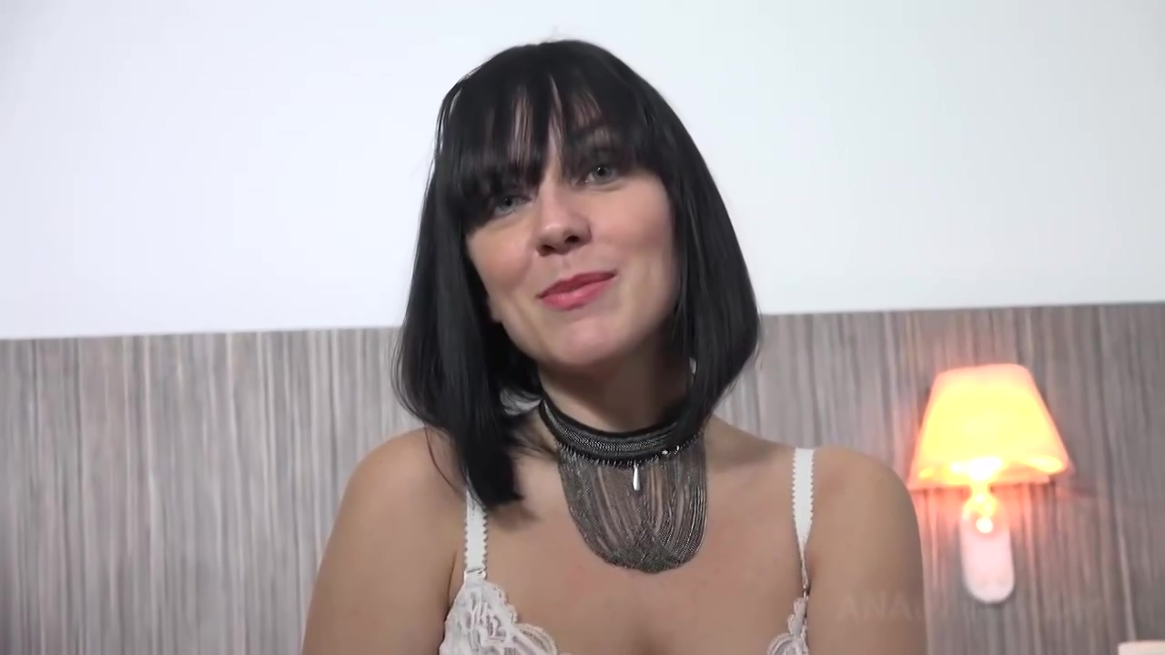Brunette with big, natural tits and perky nipples, Mya Lorenn had sex with a handsome, black guy