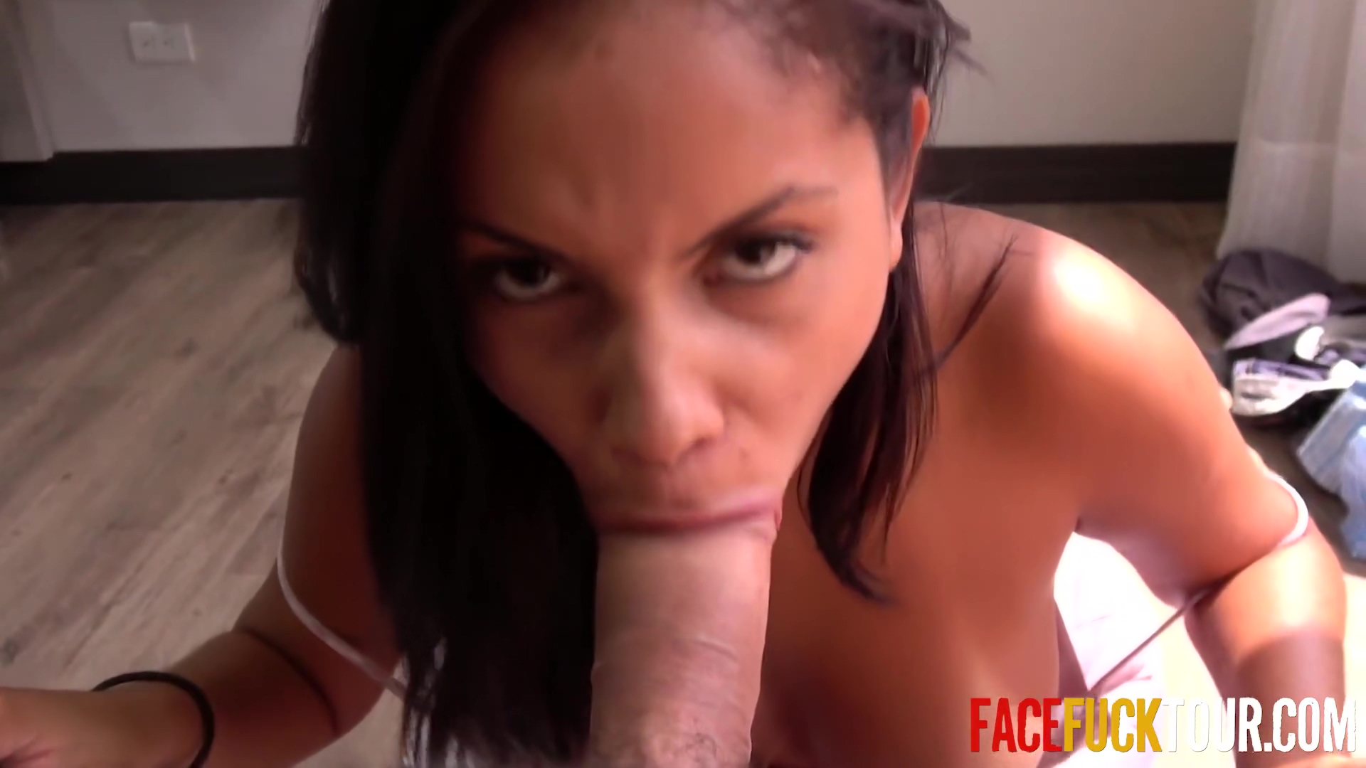 Steven Hard - Latina Dick Sucker Swallows Older Dick