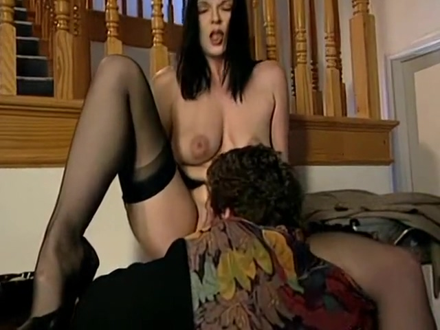 Cleo Patra And Tina Tyler - In Black Nylons And Garterbelt